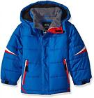 London Fog Big Boys Blue White Red Puffer Jacket Size 8 10/12 14/16