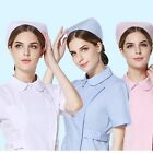 3 Colors Nursing Hat White Pink Blue Nurse Hat Uniform Helmet Turban Headgear