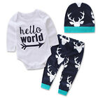 Best New 2pcs Kids Baby Outfits T-shirt Tops+Leggings Pants Clothes Christmas