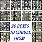 DECOUPAGE BOXES OF 45 WOODEN SHAPES 5 EACH OF 9 SHAPES  / 20 DIFFERENT BOXES