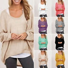 Women Plus Size Long Sleeve Pullover Lady Loose Baggy Casual Top Jumper Oversize