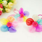 2/5/10 Pcs Fashion Girls Headwear Elastic Hair Rope with Flowers Random EW