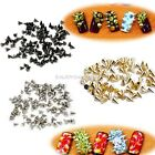 100pcs Punk Acrylic Nail Art Alloy Rivet Studs DIY Decoration Gold Silver Black