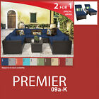 Premier 12 Piece Outdoor Wicker Patio Package PREMIER-09a-K - Navy