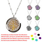 Aromatic Stress Relief Essential Oil Perfume Pendant Necklace+Free 7 Refill Disc