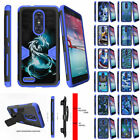 For ZTE Z MAX PRO | ZMAX Pro Carry Z981 Holster Clip Blue Case Shock Combo