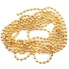 New Arrive Charming Golden Stainless Steel Ball Bead Link Chain Necklaces 2Sizes