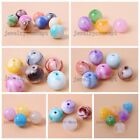 Lovely Assorted Candy Colorful Round Acrylic Spacer Beads Findings Accessories J