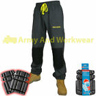 Mens Knee Pad Pockets Fleece Work Jogging Bottoms Pants Joggers + FREE KNEE PADS