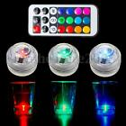 Mini LED Colorful Round Candle Underwater Light Lamp Remote Control Waterproof