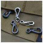 10PCS Carabiner Camping Hiking Spring Snap Clip Hook Keychain Emergency Survival