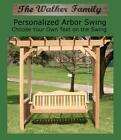NEW PERSONALIZED DELUXE DECORATIVE ARBOR, 4 FT SWING W CUSTOM NAME, HANGING ROPE