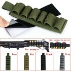 6Round Tactical Shotgun Buttstock Shell Bullet Holder With Adhesive Strip Pouch