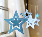 7pcs Hollow Star Garland Glitter Powder Christmas Wedding Party Birthday Decor