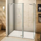 Wet Room Shower Enclosure Tray Flipper Screen Panel NANO Glass 1950 Tall Cubicle