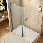 Walk In Wet Room Shower Enclosure 30/40mm Tray Flipper Screen Panel NANO Glass O