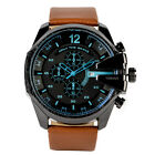 Luxury Men's Watch Analog Sport Steel Case Quartz Date Leather Wrist Watch Gift