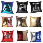 Reversible Sequin Mermaid Glitter Sofa Cushion Cover Pillow Case Xmas Gifts 2016