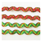 5mm COLOURFUL RIC RAC TRIMMING *6 COLOURS* CHRISTMAS CARDMAKING UK SELLER CRAFTS
