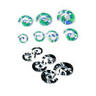 lot 6-size EAR STRETCHERS EAR STRETCHING KIT EXPANDER TUNNELS TAPERS 8G-00G SET
