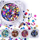 Ultrathin Nail Art Sequins UV Gel Colorful Shiny Round Style Decoration 35colors