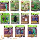 """Minecraft 3"""" Action Figures Fully Articulated & Accessories Overworld Series 1-3"""