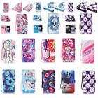 For iPhone Samsung Wallet Case Card Holder Leather Stand Case Cover+Wrist Strap