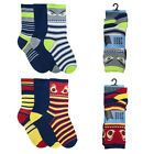 Boys Novelty 6 Pack Socks Boys Cartoon Face Funny Design Cotton Rich Socks