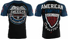 AMERICAN FIGHTER Mens T-Shirt SHERMAN Eagle BLACK Athletic Biker Gym MMA UFC $40 image