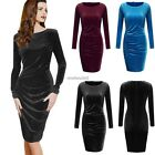 New Sexy Women Long Sleeve Pencil Bandage Bodycon Party Cocktail Mini Dress N4U8