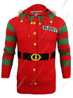 Mens Christmas Jumper Xmas Knitted ELF Bell Novelty 3D Sweater New S M L XL