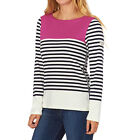 Joules Tops - Joules Harbour Top - Dark Pink and Black Stripe