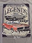 LAID-BACK LEGENDS DODGE CHARGER ARMY GREEN COLOR T-SHIRT  BRAND NEW WITH TAGS