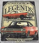 LAID-BACK LEGENDS SERIES CHRYSLER PLYMOUTH ROAD RUNNER GREY 2-SIDED T SHIRT NWT
