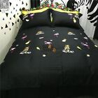 Quilt Doona Duvet Cover Set 100% Cotton King Single/Double/Queen Size New Black