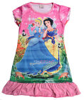 Snow White Cinderella Girls Children Kids Pyjama Nightwear Dress 3-10 Year Pink