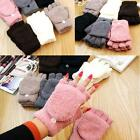 Knitted Fingerless Winter Gloves Fashion Unisex Women Men Soft Warm Mittens New