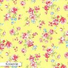 ANTIQUE FLOWER PASTEL 2016 MEDIUM ROSE YELLOW QUILT SEWING FABRIC Free Oz Post