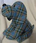 "Floppy Tartan Hound 11"" high Faithful Friends Collectables - NEW"