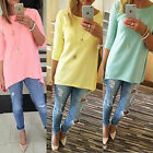 Autumn Women Loose 3/4 Sleeve Causal Tunic Tops Blouse T-Shi