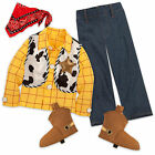 Disney Store Authentic Toy Story Sheriff Woody 5pc Costume Boys Size 5/6 & 9/10