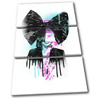 Sia Singer Grunge Urban Musical TREBLE CANVAS WALL ART Picture Print