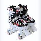 Kids Roller Skates Speed Roller skate Safety Quad Child Adjustable Skating Shoes