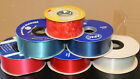 10 METRE WEDDING POLY RIBBON CRAFT FLOWER FLORISTRY 2 INCH (5cm) VARIOUS COLOURS