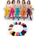 Autumn Women Opaque Foot Tights Velvet Pantyhose Slim Stretchy Stocking Colorful