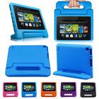 Smart Stand Leather EVA Foam Kids Case Cover For 2015 Amazon Kindle Fire 7'' HD
