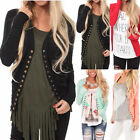 New Fashion Women's Loose Long Sleeve Cardigan Cotton Casual Tops Blouse