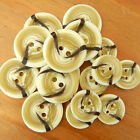5 x arran cream/brown jumper cardigan buttons 2 holes 19mm 23mm & 25mm