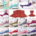 Mermaid Tail Sofa Blanket Super Warm Hand Crocheted Knitted Quilt For Adult Kids