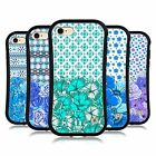 HEAD CASE DESIGNS BLU FLOREALE CASE IBRIDA PER APPLE iPHONE 7